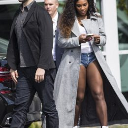 Newly engaged Serena Williams flashes her ring as she steps out with Reddit co-founder fiance Alexis Ohanian in New Zealand